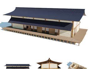 Japanese freestanding dojo 3D model