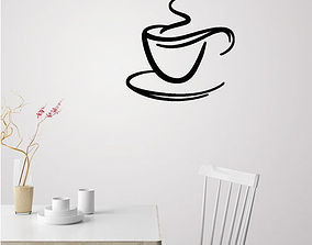 3D print model Coffee cup for wall decoration