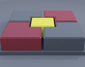 3D printable model ubin set paving stone