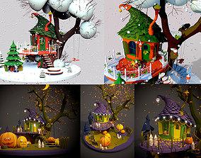 Halloween and Christmas 3D gift