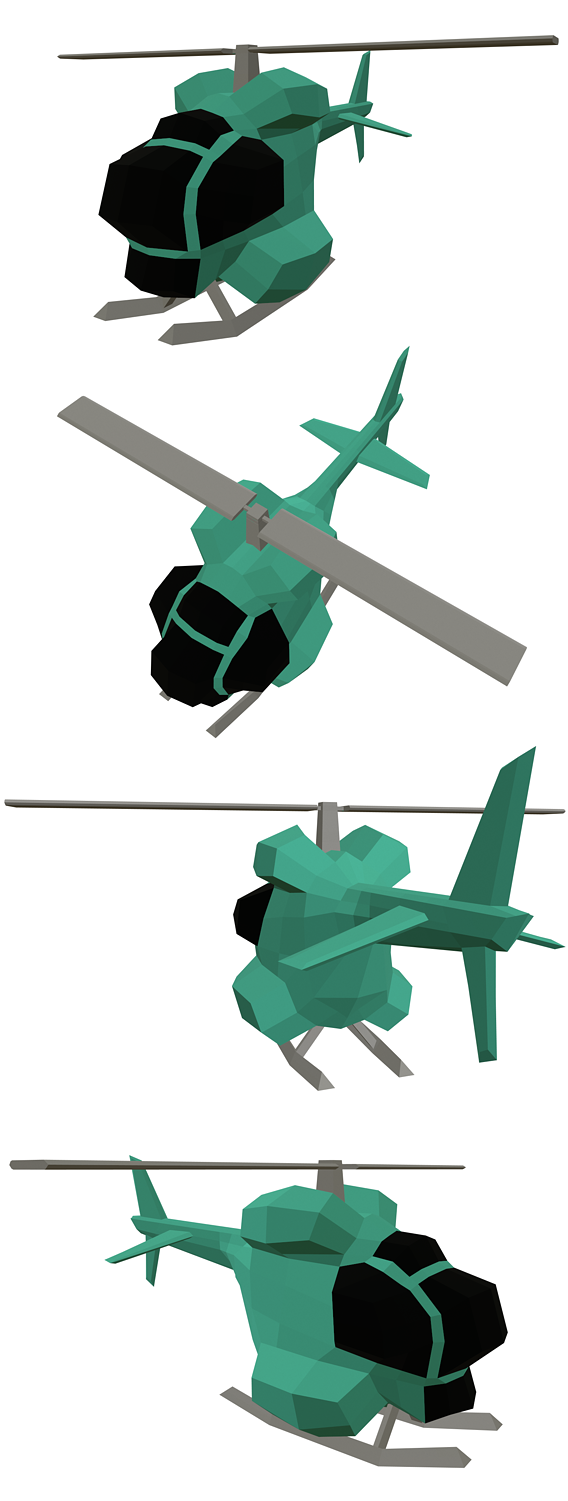 the one helicopter