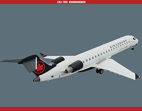 CRJ700 Air Canada 3D asset