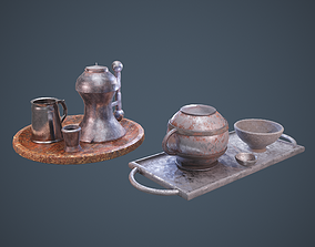 3D Medieval Tavern Dish Set