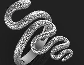 diamond-ring 3D printable model Snake ring