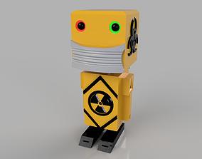 radioactive mini robot 3D printable model