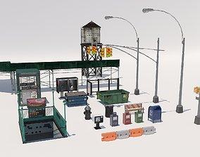 3D asset New York City elements
