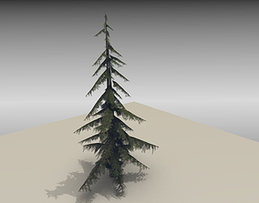 Fir tree 3D model low-poly