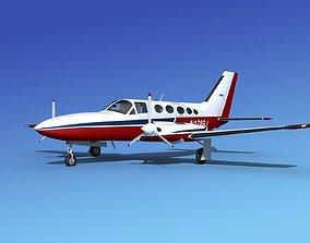 3D model Cessna 414A Chancellor V05