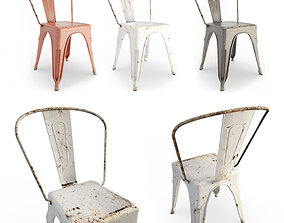 Rusted Metal Chairs old 3D model