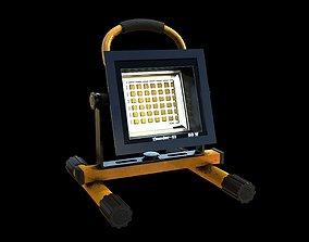 Stand Construction Work Light PBR 3D asset VR / AR ready