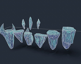 3D asset Stylized handpainted islands