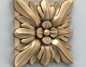 Square rosette 006 3D model