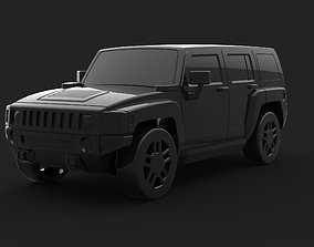 Hummer H2 3D print model vehicle