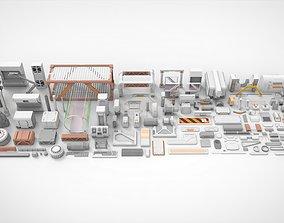 3D model Sci-Fi architecture Elements collection 18