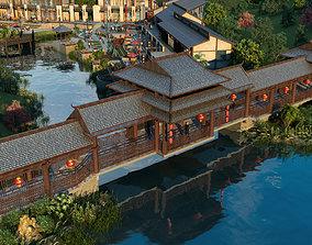 Leisure Villa Bridge Construction 02 3D model