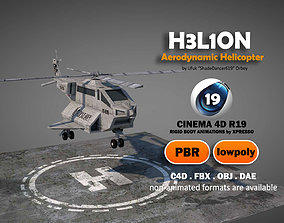 3D model Aerodynamic Animated Helicopter