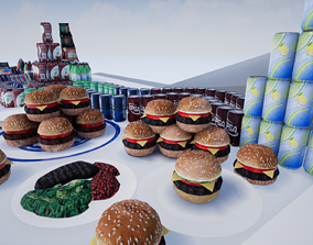 3D asset Snacks - Food - Candy - Sodas and more - FBX