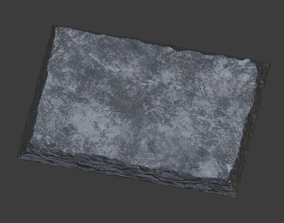 3D asset Slate plate