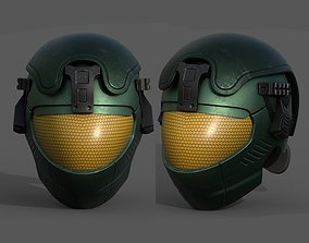 3D asset Helmet scifi military futuristic technology 2