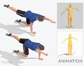 3D asset Bug Exercise Man Animation