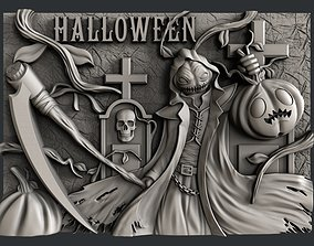 3d STL models for CNC router Halloween