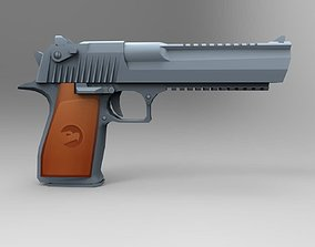 Desert Eagle Low Poly Mobile Game Ready model game-ready