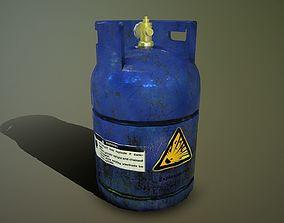 Gas bottle 3D model realtime