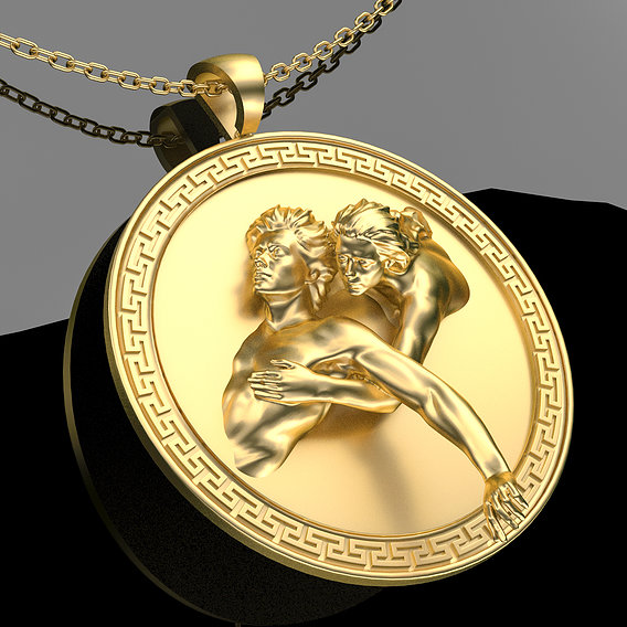 Devil Advocate Pendant Jewelry 3D print model