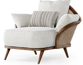 3D Garden lounge armchair WML