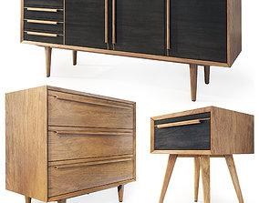 3D Dresser sideboard nightstand Bruni by Etg-Home