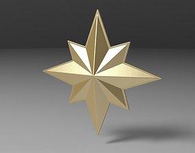 Captain Marvel emblem 3D