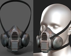 Gas mask respirator scifi futuristic 3d model low-poly