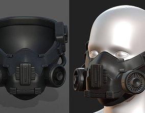 Gas mask respirator scifi futuristic helmet 3D model
