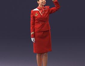 Stewardess 0614 3D model
