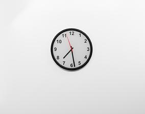 Simple Realistic Wall Clock 2 3D asset