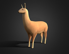 Low poly Llama - Idle Animated 3D model