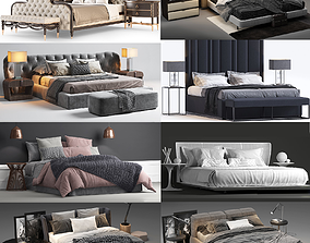 HQ Beds modern style - 45 pack Collection 3D-models