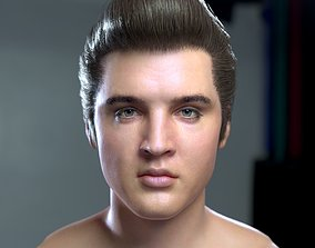 character 3d model Elvis Presley head game-ready