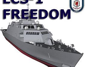 3D model US Navy Littoral Combat Ship LCS-1 Liberty 2007 1