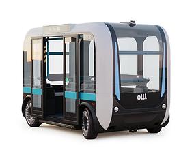 Driverless Bus Local Motors Olli - Rigged 3D model