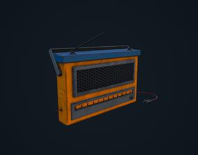 Stylized Radio 3D asset