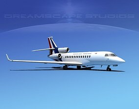 Dassault Falcon 7X France 3D model