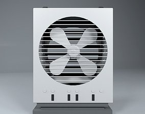 3D model animated low-poly Cooler Fan