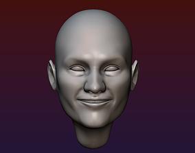 Man Head 2 - Bald head 3D printable model