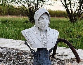 Mortal Kombat Scorpion Bust and Mask 3D printable model