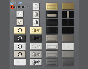 3D Flush buttons for installation Viega 1