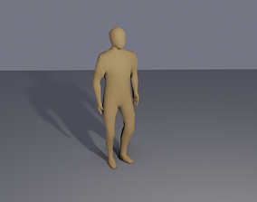 3D model Low-poly rigged human