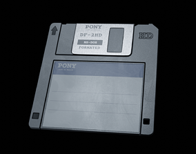 Diskette - PBR Game Ready 3D model