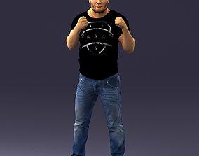 Man in boxer pose 0019 3D Print Ready