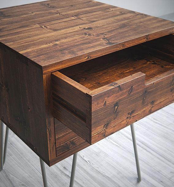 3d render wood cabinet